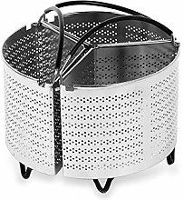 Funsquare 3-Piece Divided Steamer Basket for 6 Qt