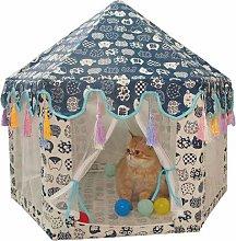 FURASTY Hexagon Pet Tent Teepee Dog House Pet Bed