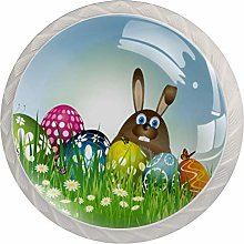 FURINKAZAN Cabinet Knob Pull Handle Easter Bunny