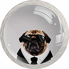 FURINKAZAN Cabinet Knob Pull Handle Funny Dog with
