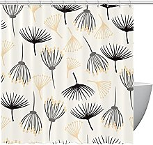 FURINKAZAN Floral Dandelions Shower Curtain with