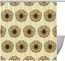 FURINKAZAN Sunflowers Background Shower Curtain