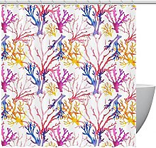 FURINKAZAN Watercolorcoral Shower Curtain with