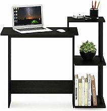 Furinno Computer Desks, Wood, Americano/Black, one