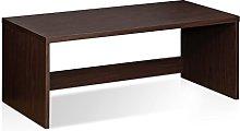 FURINNO Computer Desks, Wood, Espresso, one Size