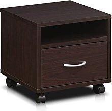 FURINNO Petite Under Desk Utility Cart wtih