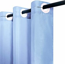 Furlinic Blue Ringless Shower Curtain 210 Drop for