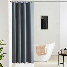 Furlinic Dark Grey Blackout Shower Curtain for Wet
