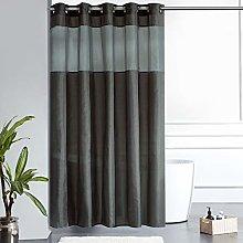 Furlinic Dark Grey Shower Curtain with Clear