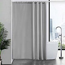 Furlinic Extra Long Shower Curtain with Hooks 100%