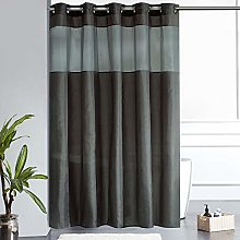 Furlinic Extra Wide Shower Curtain Dark Grey with