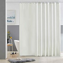 Furlinic Extra Wide Shower Curtain Fabric Washable