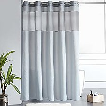 Furlinic Extra Wide Shower Curtain Grey with Clear