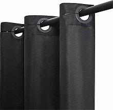 Furlinic Hookless Shower Curtain Black Bathroom