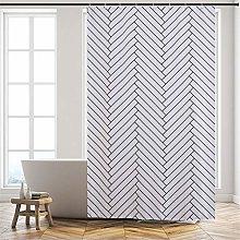 Furlinic Long Shower Curtain,Mould Proof Resistant