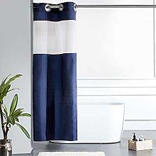 Furlinic Navy Shower Curtain Waterproof Mould