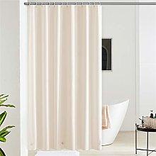 Furlinic Shower Curtain Beige Waterproof Long EVA