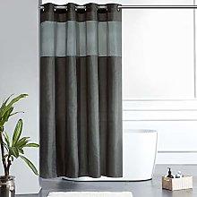 Furlinic Shower Curtain Dark Grey Fabric Curtains