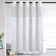 Furlinic Shower Curtain Extra Long White Fabric