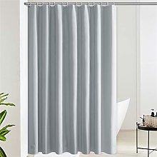 Furlinic Shower Curtain Grey Extra long Waterproof