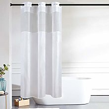 Furlinic Shower Curtain White with Clear Window