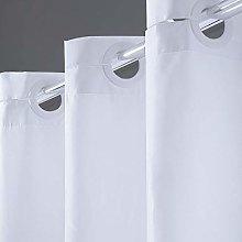Furlinic White Hookless Shower Curtain 200 Drop
