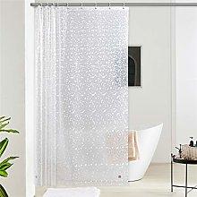 Furlinic White Shower Curtain EVA Translucent