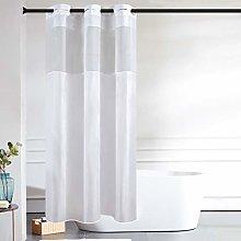 Furlinic White Shower Curtain Waterproof with