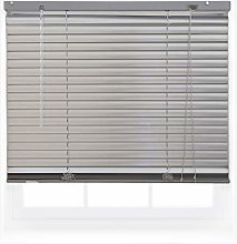 FURNISHED Silver Aluminum Venetian Window Blinds