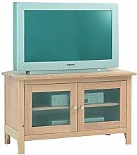 Furniture Creation Glazed Corner TV Cabinet, One