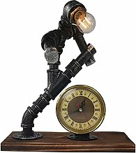 FURNITURE Creative Iron Robot Table Lamp Retro