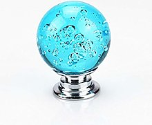 Furniture Door Handle Blue Crystal Bubble Knob