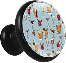 Furniture Drawer Knobs Drinks Pattern Cute