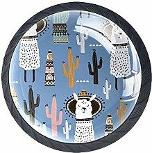Furniture Knobs Alpaca Cactus Kitchen Cabinet