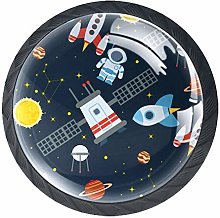 Furniture Knobs Astronaut Rocket Kitchen Cabinet