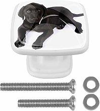 Furniture Knobs Black Labrador Cabinet Knobs