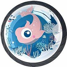 Furniture Knobs Cartoon Fish Kitchen Cabinet knobs
