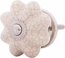 Furniture Knobs Ceramic White Porcelain 40 mm