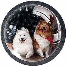 Furniture Knobs Christmas Animal Dog Kitchen