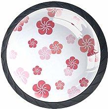 Furniture Knobs Flower Pink Kitchen Cabinet knobs