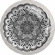 Furniture Knobs for Dressers Gray Classic Mandala