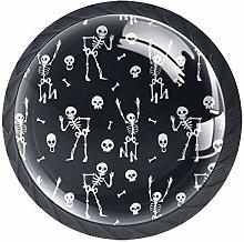 Furniture Knobs Halloween Skeleton Kitchen Cabinet