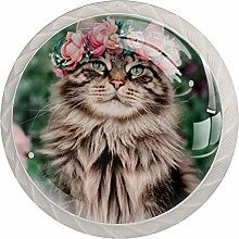 Furniture Knobs Wreathed Cat Kitchen Drawer knobs