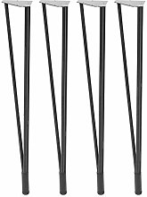 Furniture Legs,4Pcs Table Legs Cold Rolled Steel