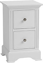 Furniture Mill Bacup Small Bedside in White