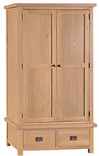 Furniture Mill Corby 2 Door 2 Drawer Wardrobe