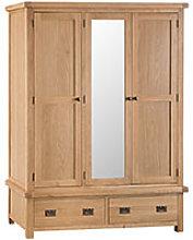 Furniture Mill Corby 3 Door Wardrobe With Mirror