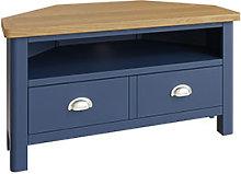 Furniture Mill Radford Blue Corner TV Unit