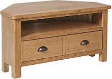 Furniture Mill Radford Oak Corner TV Unit