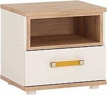 Furniture To Go 1 Drawer Bedside Cabinet, Oak,